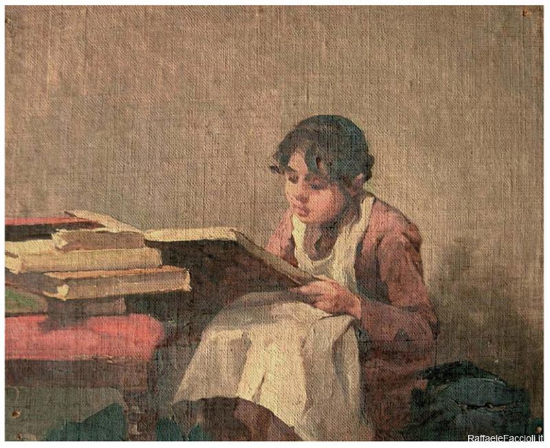 Matilde Serao, bambina, in lettura