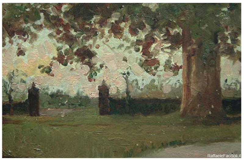 Il platano nel parco di Villa Giulia