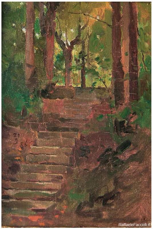 La scaletta nel giardino