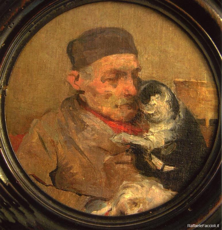 Vecchio con gatto
